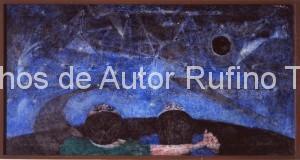 Derechos-de-Autor-Rufino-Tamayo-Oleo-1949-Amantes contemplando el firmamento