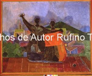 Derechos-de-Autor-Rufino-Tamayo-Oleo-1944-Amantes contemplando el paisaje