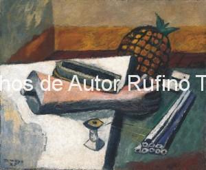 Derechos-de-Autor-Rufino-Tamayo-Oleo-1928-Arreglo de Objetos