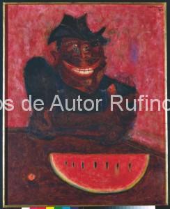 Derechos-de-Autor-Rufino-Tamayo-Oleo-1949-Comedor de Sandía