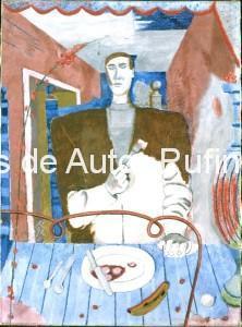 Derechos-de-Autor-Rufino-Tamayo-Oleo-1938-Comensal