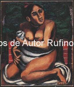Derechos-de-Autor-Rufino-Tamayo-Oleo-1930-Desnudo en rojo