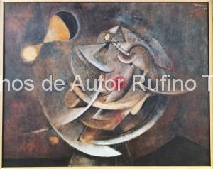 Derechos-de-Autor-Rufino-Tamayo-Oleo-1954-El astrónomo