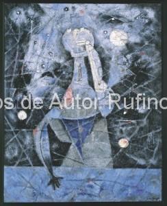 Derechos-de-Autor-Rufino-Tamayo-Oleo-1957-El Astrónomo