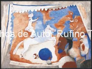 Derechos-de-Autor-Rufino-Tamayo-Oleo-1938-El circo