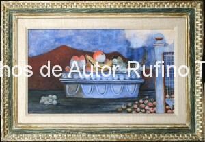 Derechos-de-Autor-Rufino-Tamayo-Oleo-1939-El frutero azul