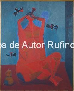 Derechos-de-Autor-Rufino-Tamayo-Oleo-1945-Encantador de pájaros