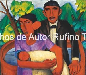 Derechos-de-Autor-Rufino-Tamayo-Oleo-1926-Familia