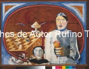 Derechos-de-Autor-Rufino-Tamayo-Oleo-1938-Helado de fresa