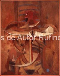 Derechos-de-Autor-Rufino-Tamayo-Oleo-1955-Hombre arrancándose el corazón