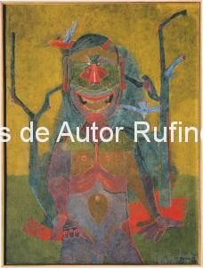 Derechos-de-Autor-Rufino-Tamayo-Oleo-1945-Hombre con pájaros