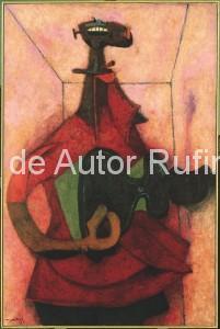 Derechos-de-Autor-Rufino-Tamayo-Oleo-1950-Hombre que canta