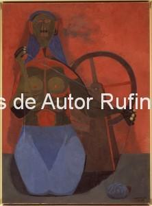 Derechos-de-Autor-Rufino-Tamayo-Oleo-1943-La hilandera