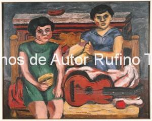 Derechos-de-Autor-Rufino-Tamayo-Oleo-1929-Las niñas