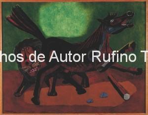 Derechos-de-Autor-Rufino-Tamayo-Oleo-1942-León y caballo