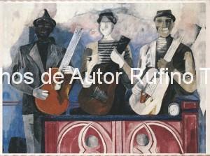Derechos-de-Autor-Rufino-Tamayo-Oleo-1934-Los músicos