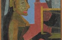 Mujer con jaula, 1941