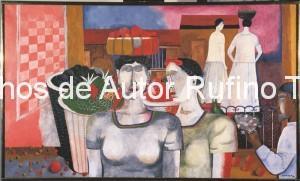 Derechos-de-Autor-Rufino-Tamayo-Oleo-1939-Mujeres de Tehuantepec