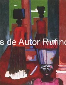 Derechos-de-Autor-Rufino-Tamayo-Oleo-1938-Mujeres de tehuantepec