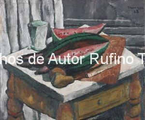 Derechos-de-Autor-Rufino-Tamayo-Oleo-1928-Naturaleza muerta