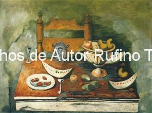 Derechos-de-Autor-Rufino-Tamayo-Oleo-1937-Naturaleza muerta