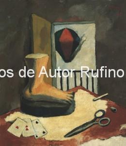 Derechos-de-Autor-Rufino-Tamayo-Oleo-1928-Naturaleza muerta con pie