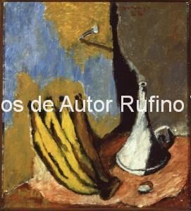 Derechos-de-Autor-Rufino-Tamayo-Oleo-1928-Naturaleza muerta con plátanos