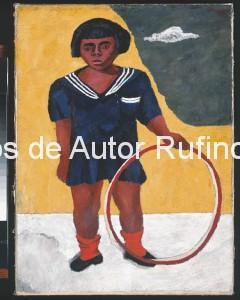 Derechos-de-Autor-Rufino-Tamayo-Oleo-1932-Niña con Aro