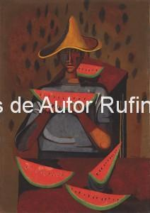 Derechos-de-Autor-Rufino-Tamayo-Oleo-1940-Niño con sandías