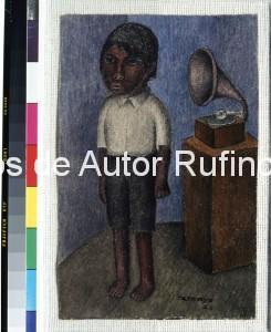 Derechos-de-Autor-Rufino-Tamayo-Oleo-1926-Niño y fonógrafo