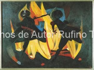 Derechos-de-Autor-Rufino-Tamayo-Oleo-1947-Niños jugando con fuego