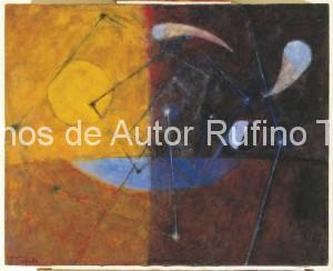 Derechos-de-Autor-Rufino-Tamayo-Oleo-1953-Noche y día