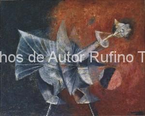 Derechos-de-Autor-Rufino-Tamayo-Oleo-1956-Pájaro espectral