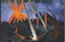 Paisaje del Paricutín, 1947