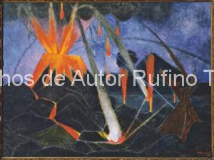 Derechos-de-Autor-Rufino-Tamayo-Oleo-1947-Paisaje del Paricutín