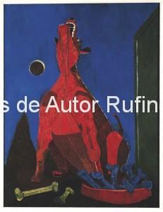 Derechos-de-Autor-Rufino-Tamayo-Oleo-1942-Perro ladrando a la luna