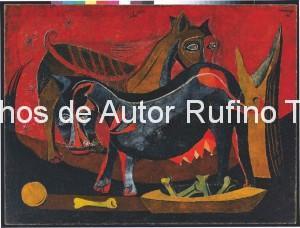 Derechos-de-Autor-Rufino-Tamayo-Oleo-1941-Perros