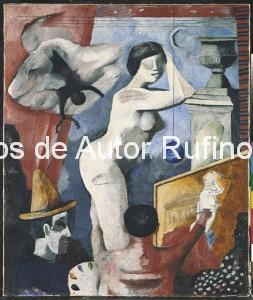Derechos-de-Autor-Rufino-Tamayo-Oleo-1935-Pintura académica