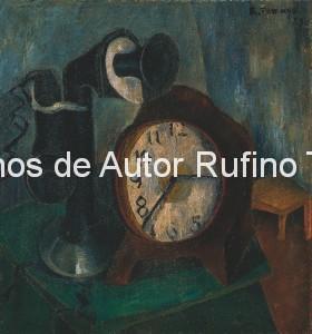 Derechos-de-Autor-Rufino-Tamayo-Oleo-1925-Reloj y teléfono