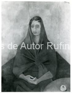 Derechos-de-Autor-Rufino-Tamayo-Oleo-1951-Retrato de la Sra. Carrillo Gil