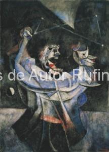 Derechos-de-Autor-Rufino-Tamayo-Oleo-1954-Terror cósmico