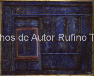 Derechos-de-Autor-Rufino-Tamayo-Oleo-1958-Tienda cerrada