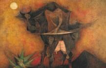 Vaca espantándose las moscas, 1951