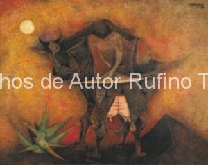 Derechos-de-Autor-Rufino-Tamayo-Oleo-1951-Vaca espantándose las moscas