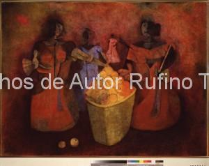 Derechos-de-Autor-Rufino-Tamayo-Oleo-1952-Vendedora de fruta