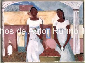 Derechos-de-Autor-Rufino-Tamayo-Oleo-1938-Vendedoras de fruta