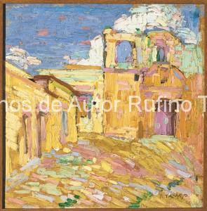 Rufino Tamayo - Oleo - Calvario de Oaxaca - 1921