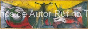 Derechos de autor Rufino Tamayo - Pintura mural - El mexicano y su mundo - 1967