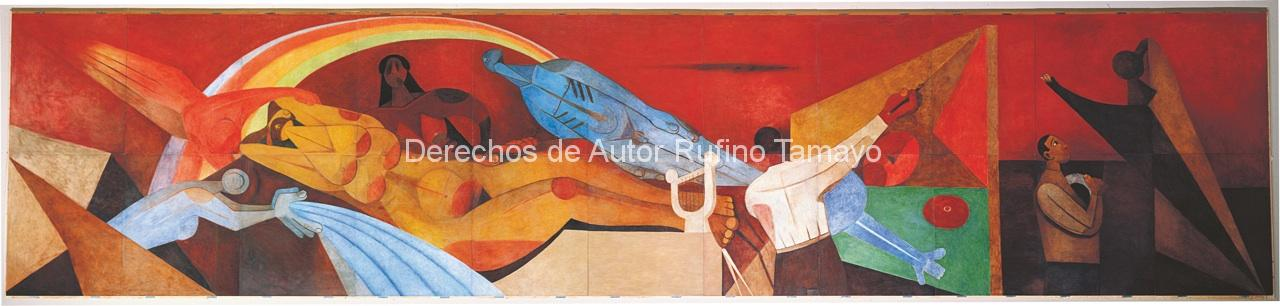 Rufino tamayo mural images galleries for Arte mural mexicano