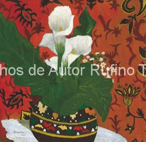 Rufino Tamayo - Oleo - Naturaleza muerta con alcatraces - 1924